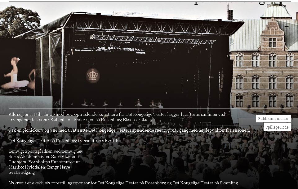 Opera – friluftsarrangement i Akademihaven