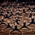 Stor gymnastikopvisning