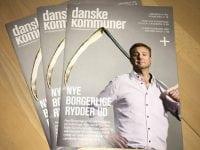 På forsiden af Danske Kommuner blev byrådsmedlem i Sorø, Johannes Lumholt, portrætteret med en le.