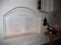 Præstetavlerne. Foto: Alsted Kirke