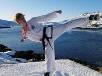 Lukas Brandt fra Sorø Taekwon Do Klub på eventyr i Grønland. Privatfoto.